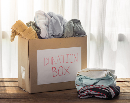Clothing donation box